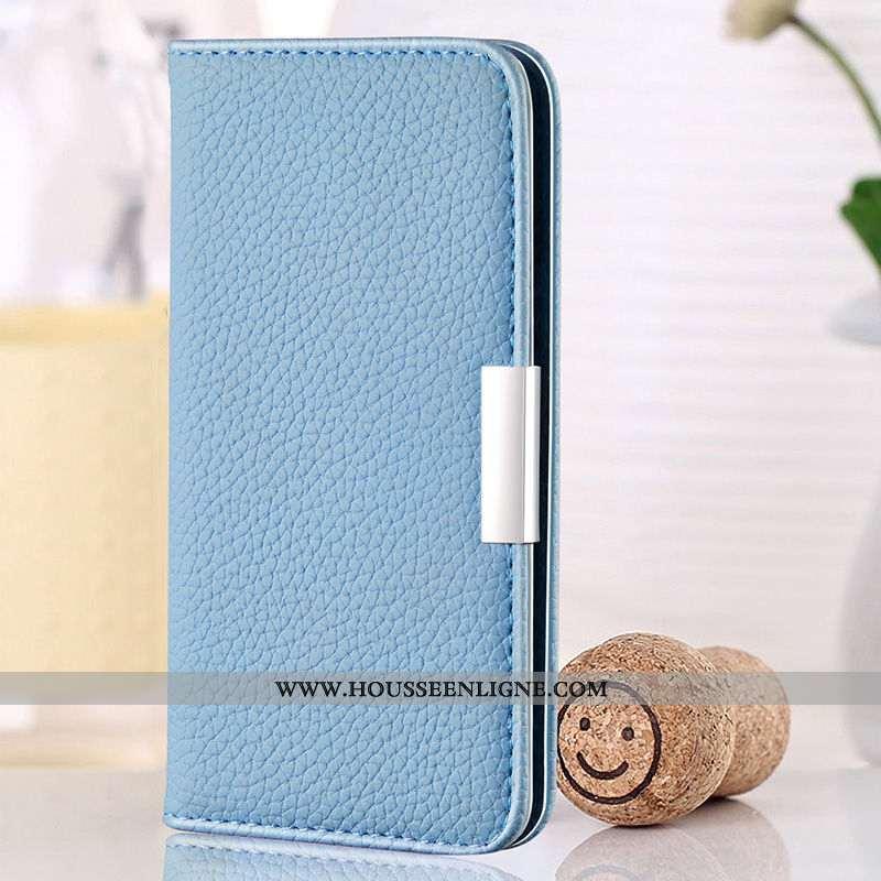 Coque Huawei Y6 2020 Fluide Doux Silicone 2020 Téléphone Portable Clamshell Protection Bleu