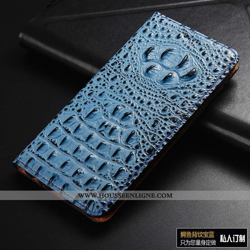 Coque Huawei Y6 2020 Modèle Fleurie Protection Étui Incassable 2020 Bleu