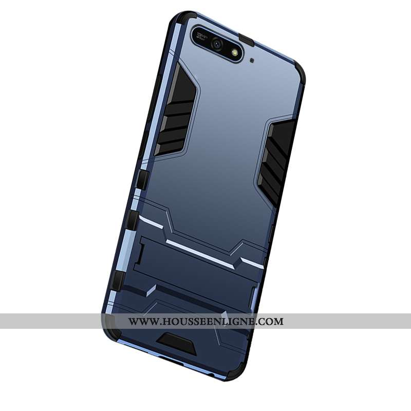 Coque Huawei Y6 2020 Protection Étui Téléphone Portable Incassable 2020 Difficile Bleu Foncé