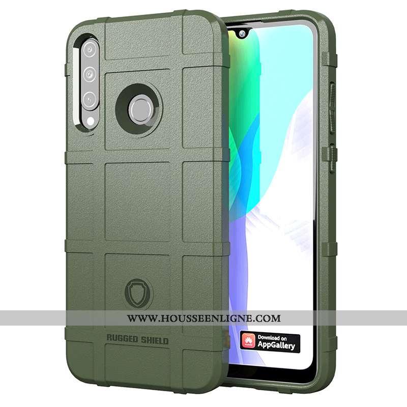 Coque Huawei Y6p Fluide Doux Silicone Tout Compris Vert Étui Incassable Verte