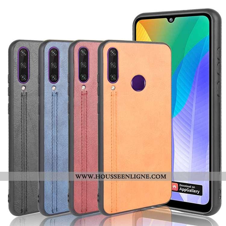 Coque Huawei Y6p Protection Tendance Jaune Étui Téléphone Portable Tout Compris