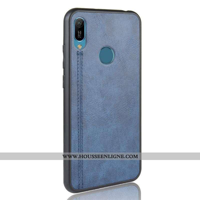 Coque Huawei Y6s Fluide Doux Protection Légères Téléphone Portable Étui Tout Compris Bleu Foncé