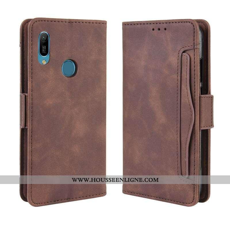 Coque Huawei Y6s Protection Créatif Portefeuille Téléphone Portable Business Étui Marron