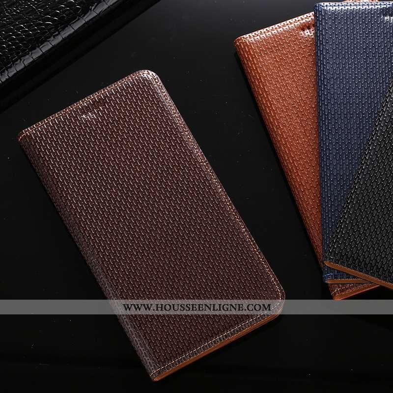 Coque Huawei Y7 2020 Modèle Fleurie Protection 2020 Téléphone Portable Cuir Véritable Étui Marron