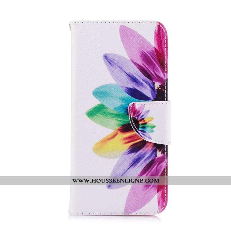 Coque Huawei Y7 2020 Protection Cuir Multicolore Housse Étui Téléphone Portable Coloré
