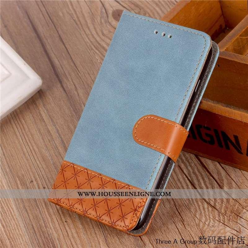 Coque Huawei Y7 2020 Protection Tendance Étui Bleu Housse Téléphone Portable