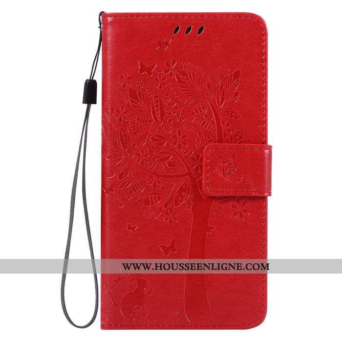 Coque Lg G6 Cuir Fluide Doux Tout Compris Clamshell Incassable Téléphone Portable Rouge