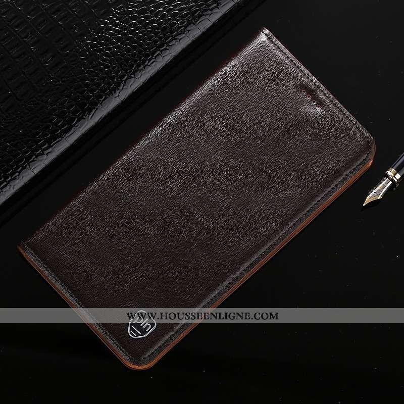 Coque Lg G6 Cuir Modèle Fleurie Téléphone Portable Housse Incassable Protection Véritable Marron