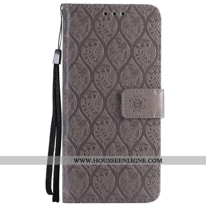 Coque Lg G6 Protection Cuir Tout Compris Étui Support Téléphone Portable Gris