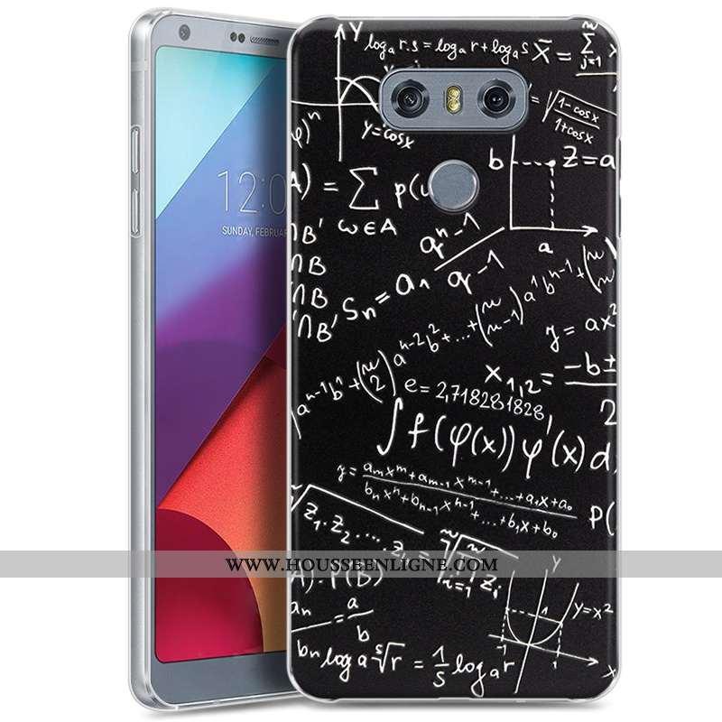Coque Lg G6 Protection Gaufrage Difficile Étui Téléphone Portable Dessin Animé Peinture Noir