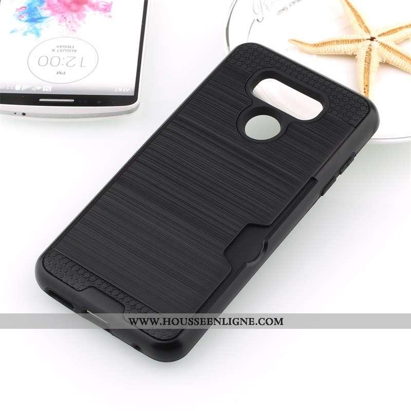 Coque Lg G6 Protection Noir Soie Carte Téléphone Portable Incassable