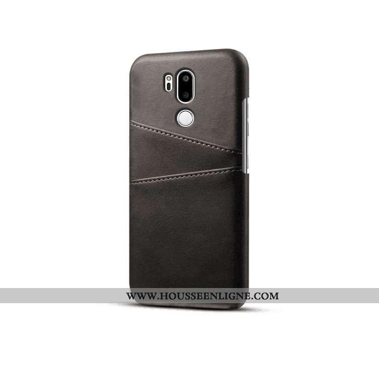 Coque Lg G7 Thinq Cuir Protection Carte Téléphone Portable Tendance Qualité Noir