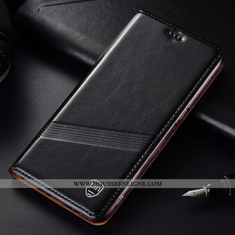 Coque Lg K11 Protection Cuir Véritable Incassable Tout Compris Étui Téléphone Portable Noir