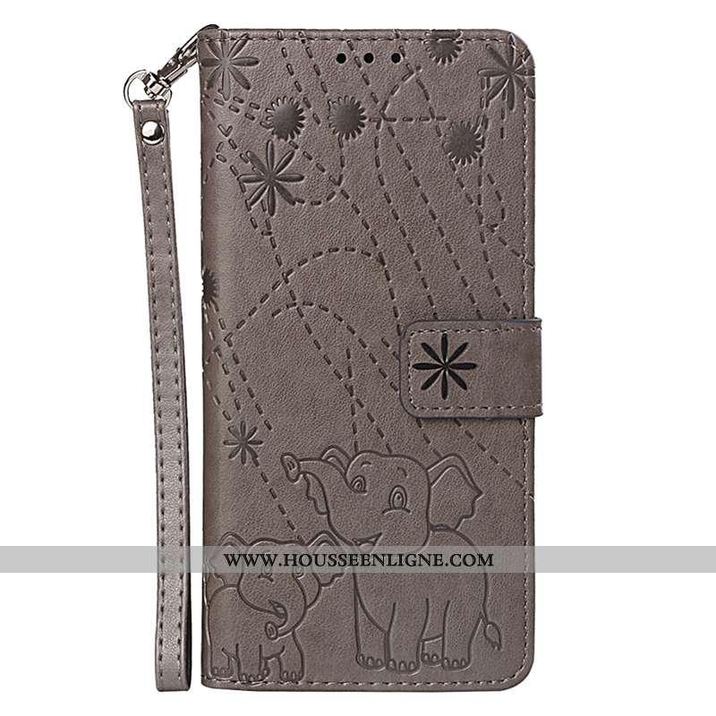 Coque Lg Q Stylus Protection Ornements Suspendus Marron Cuir Étui Téléphone Portable