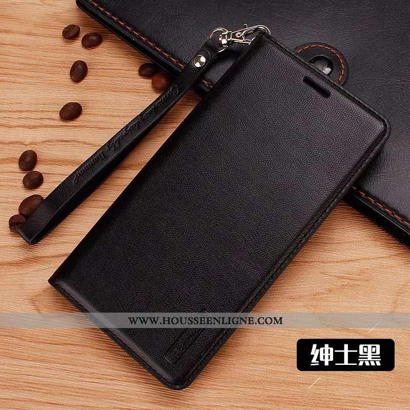 Coque Lg Q6 Cuir Fluide Doux Housse Noir Étui Téléphone Portable