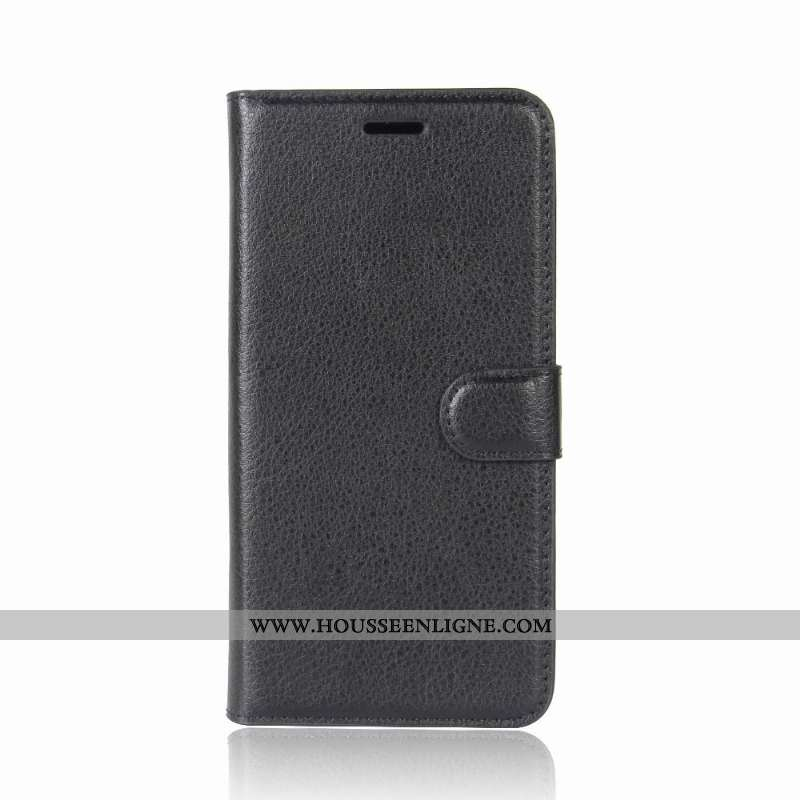 Coque Lg Q6 Cuir Protection Housse Étui Incassable Téléphone Portable Noir