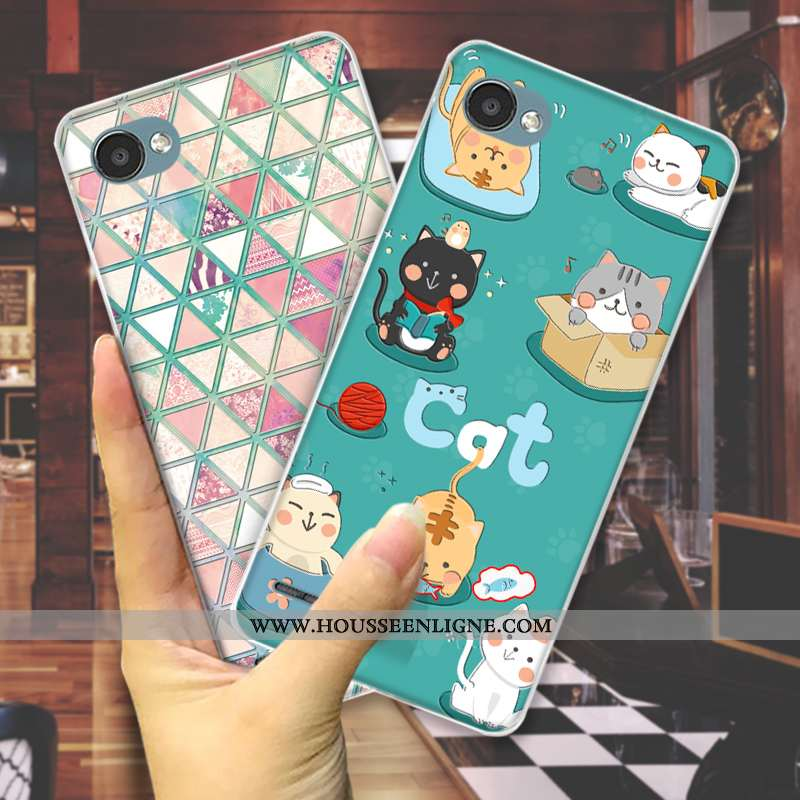Coque Lg Q6 Dessin Animé Charmant Téléphone Portable Mode Étui Tout Compris Petit Verte