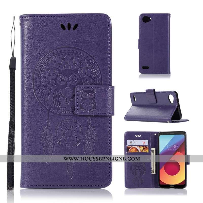 Coque Lg Q6 Fluide Doux Silicone Protection Téléphone Portable Housse Étui Violet