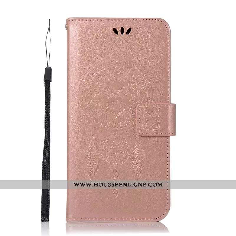 Coque Lg Q6 Tendance Cuir Téléphone Portable Simple Portefeuille Rose Fluide Doux