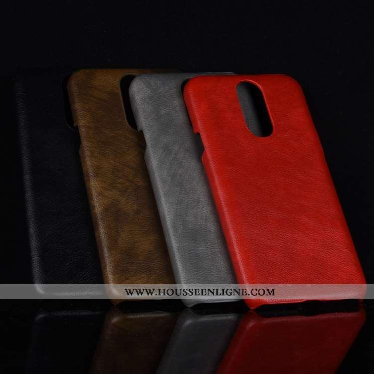 Coque Lg Q7 Cuir Modèle Fleurie Incassable Étui Téléphone Portable Rouge