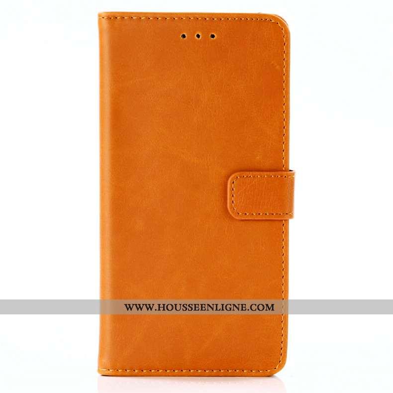 Coque Lg Q7 Cuir Protection Téléphone Portable Étui Clamshell Jaune