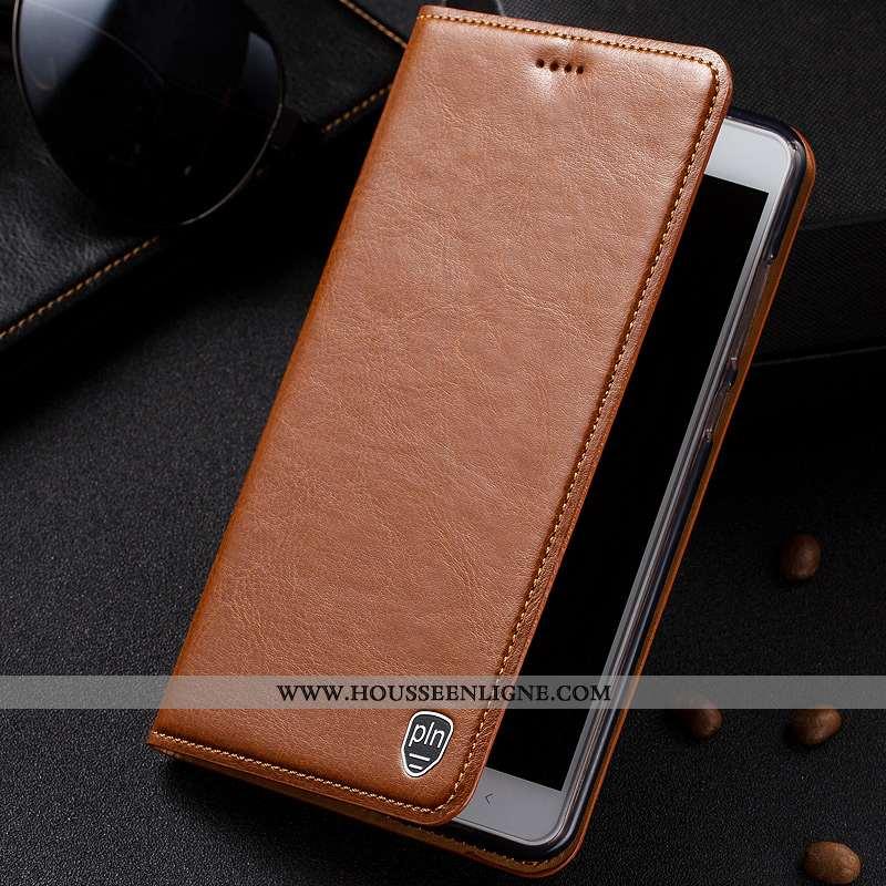 Coque Lg V30 Modèle Fleurie Protection Étui Cuir Véritable Cuir Téléphone Portable Marron