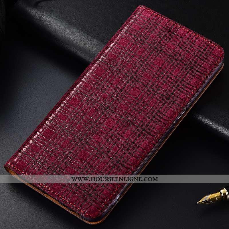 Coque Lg V30 Protection Cuir Véritable Rouge Incassable Modèle Fleurie Tout Compris Étui