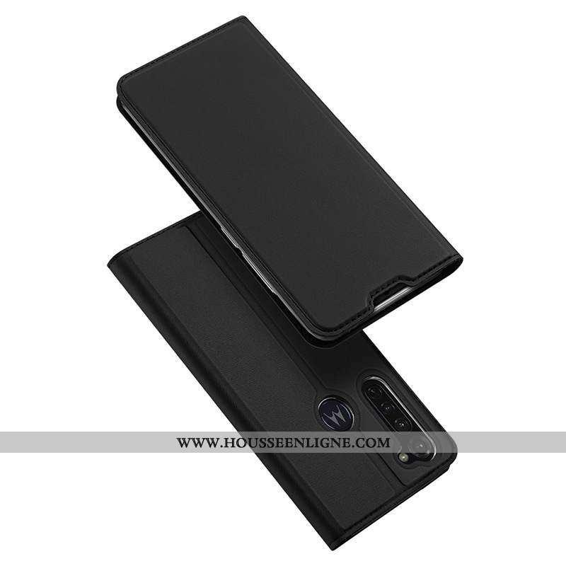Coque Moto G Pro Cuir Protection Téléphone Portable Étui Noir Housse