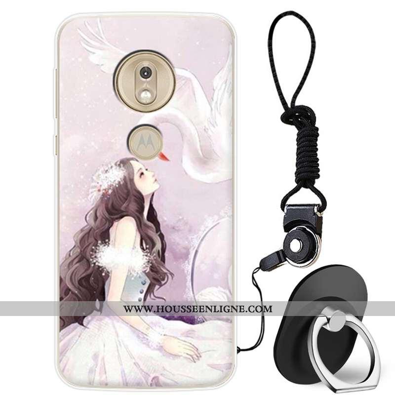 Coque Moto G7 Play Protection Charmant Téléphone Portable Incassable Tout Compris Silicone Rose