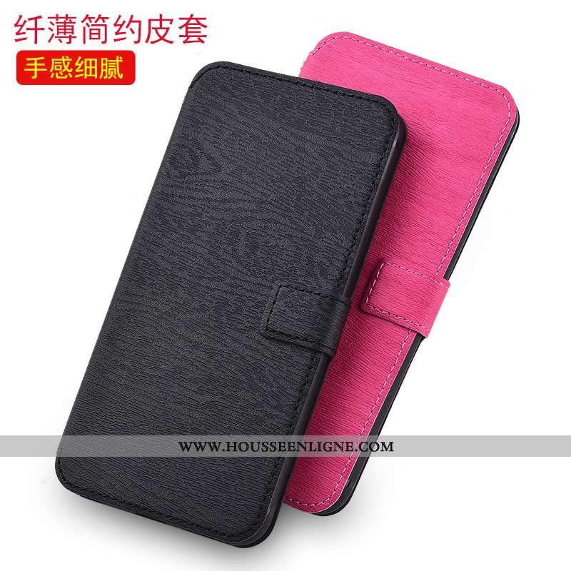 Coque Moto G7 Plus Cuir Protection Noir Tout Compris Téléphone Portable Étui