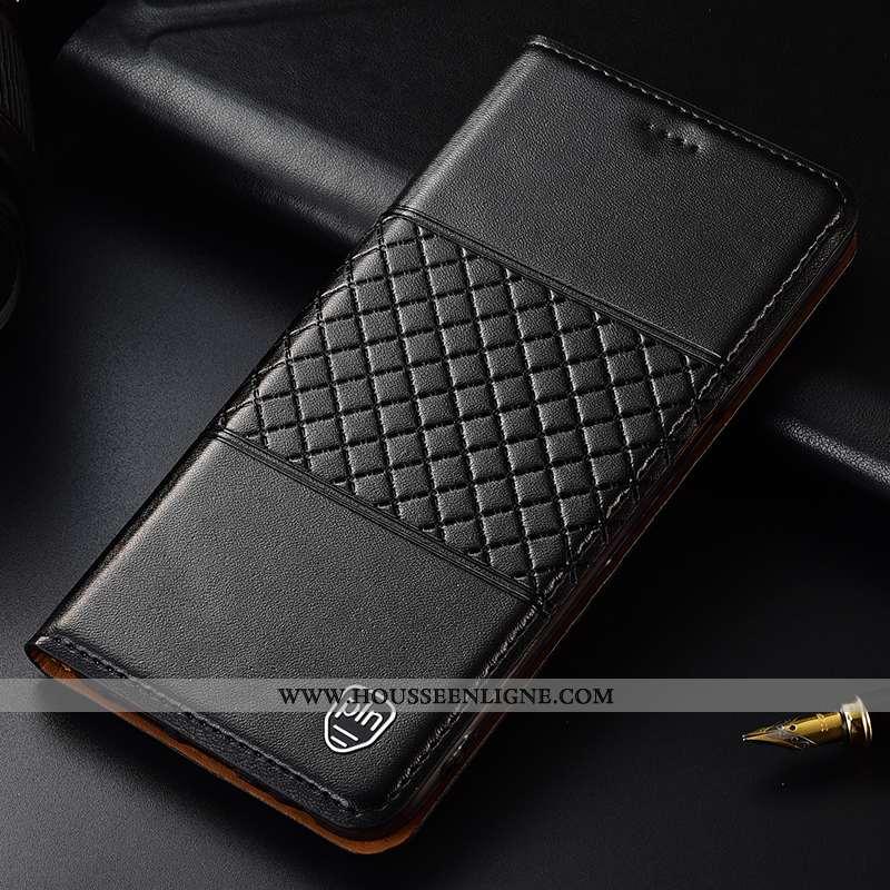 Coque Moto G7 Power Protection Cuir Véritable Housse Europe Noir Téléphone Portable Incassable