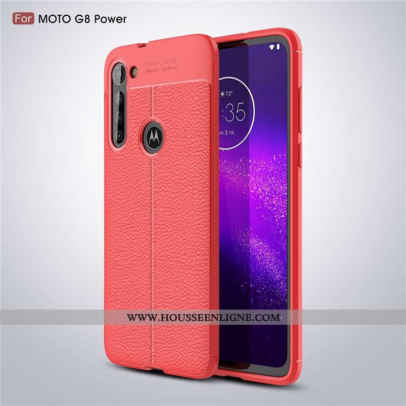 Coque Moto G8 Power Fluide Doux Protection Modèle Fleurie Rouge Antidérapant Téléphone Portable
