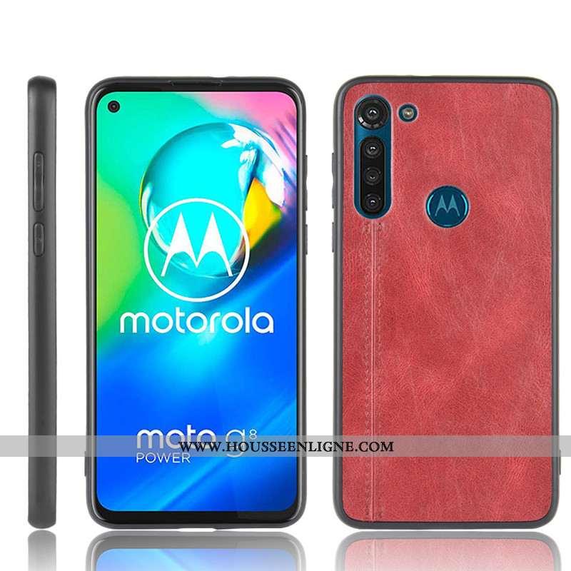 Coque Moto G8 Power Protection Modèle Fleurie Téléphone Portable Bovins Rouge Étui Difficile