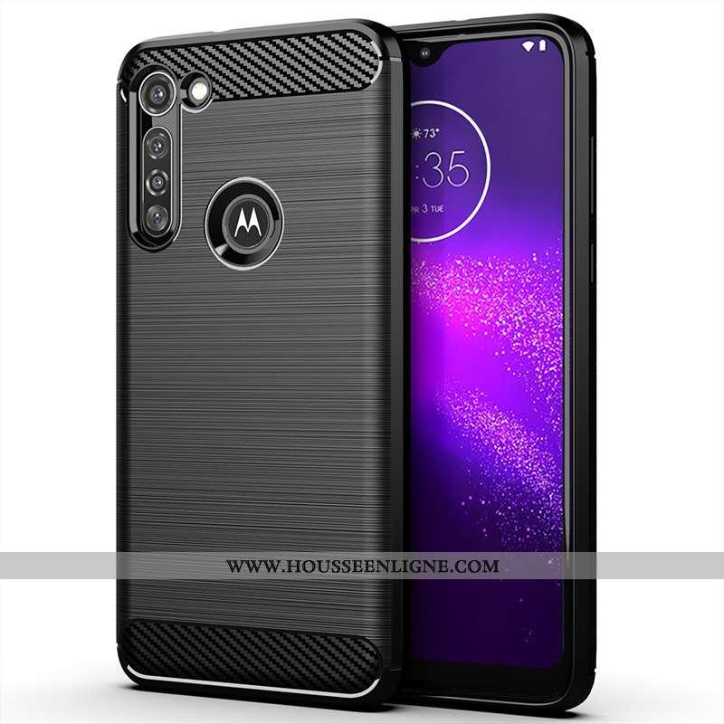 Coque Moto G8 Power Silicone Protection Incassable Étui Noir Téléphone Portable