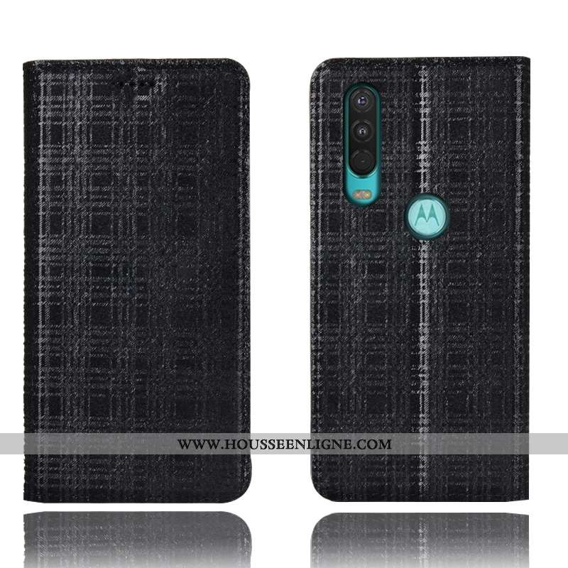 Coque Motorola One Action Protection Cuir Véritable Tout Compris Incassable Housse Téléphone Portabl