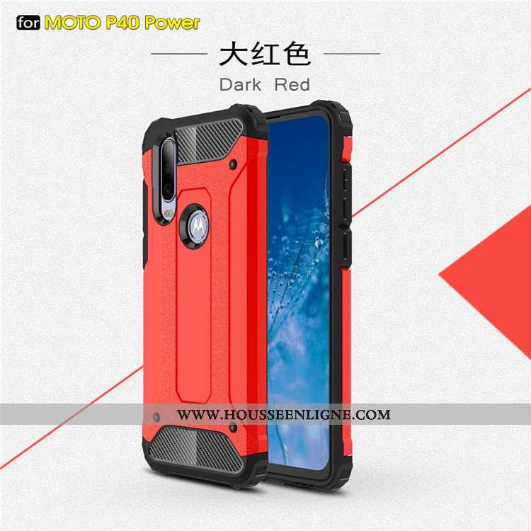 Coque Motorola One Action Tendance Protection Rouge Tout Compris Étui Téléphone Portable