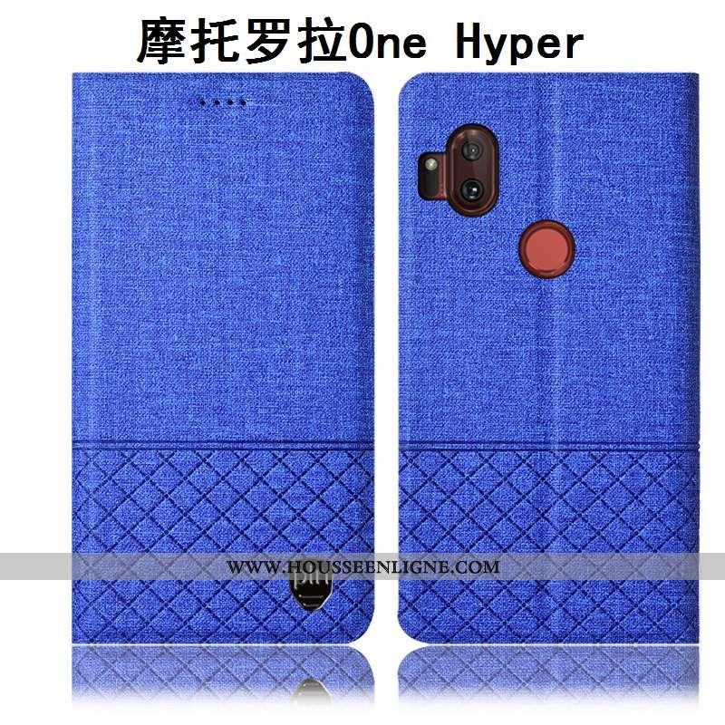 Coque Motorola One Hyper Protection Matelassé Étui Rose Tout Compris Téléphone Portable Housse