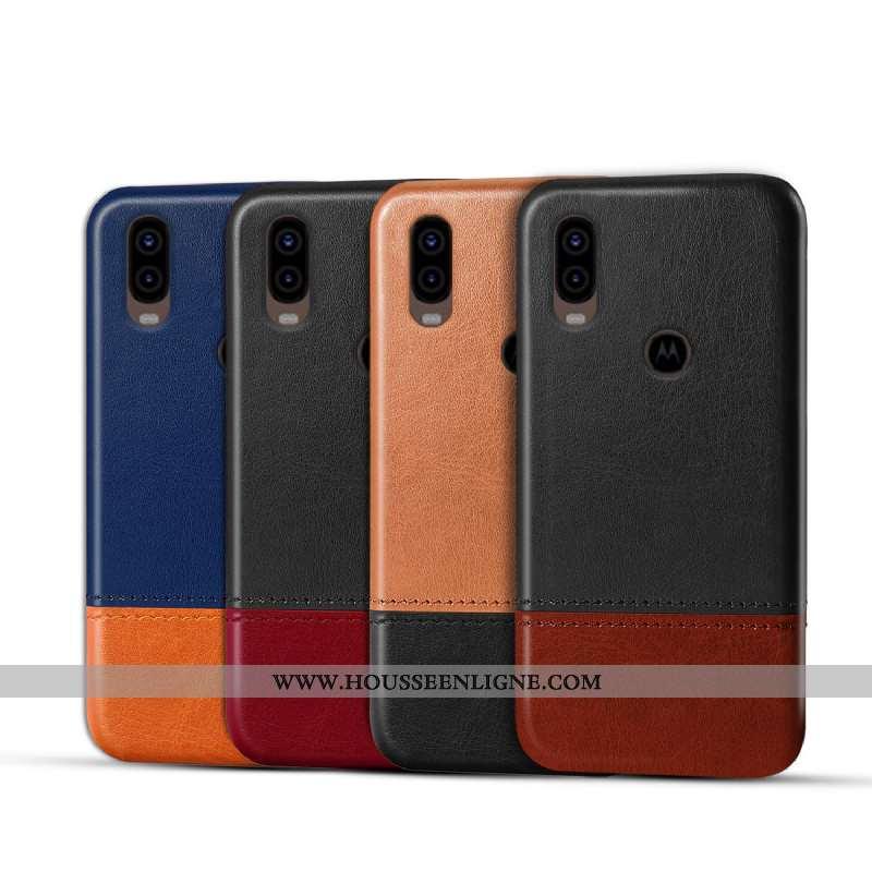 Coque Motorola One Vision Protection Téléphone Portable Rouge Étui Personnalisé