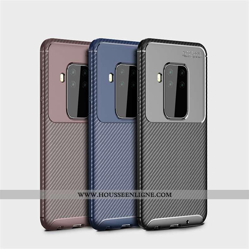 Coque Motorola One Zoom Fluide Doux Protection Fibre Étui Noir Délavé En Daim Business