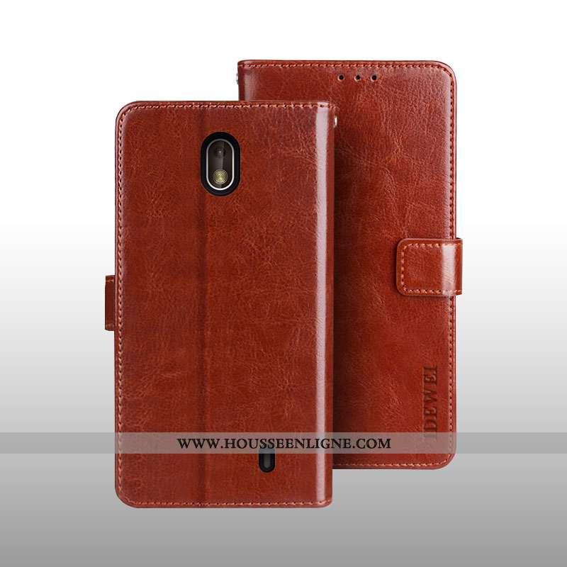 Coque Nokia 1 Plus Portefeuille Cuir 2020 Carte Téléphone Portable Protection Marron