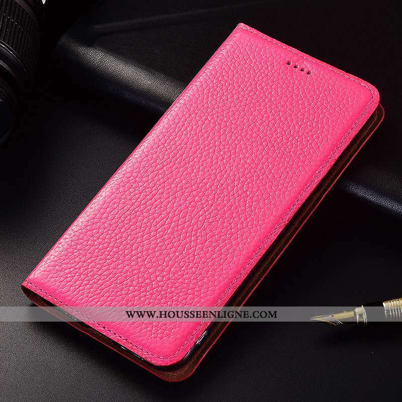 Coque Nokia 2.1 Cuir Silicone Téléphone Portable Protection Véritable Rouge Incassable Clamshell Ros