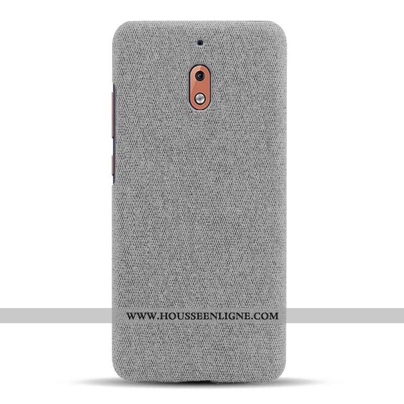 Coque Nokia 2.1 Légère Protection Tissu Incassable Téléphone Portable Légères Étui Gris