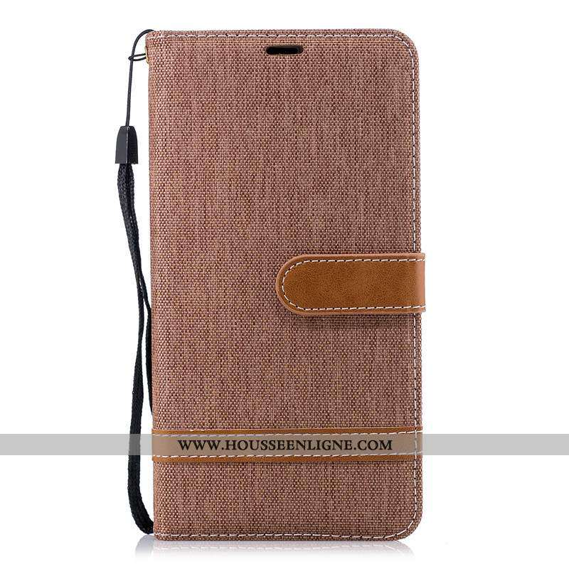 Coque Nokia 2.1 Personnalité Créatif Tissu Cuir Téléphone Portable Marron