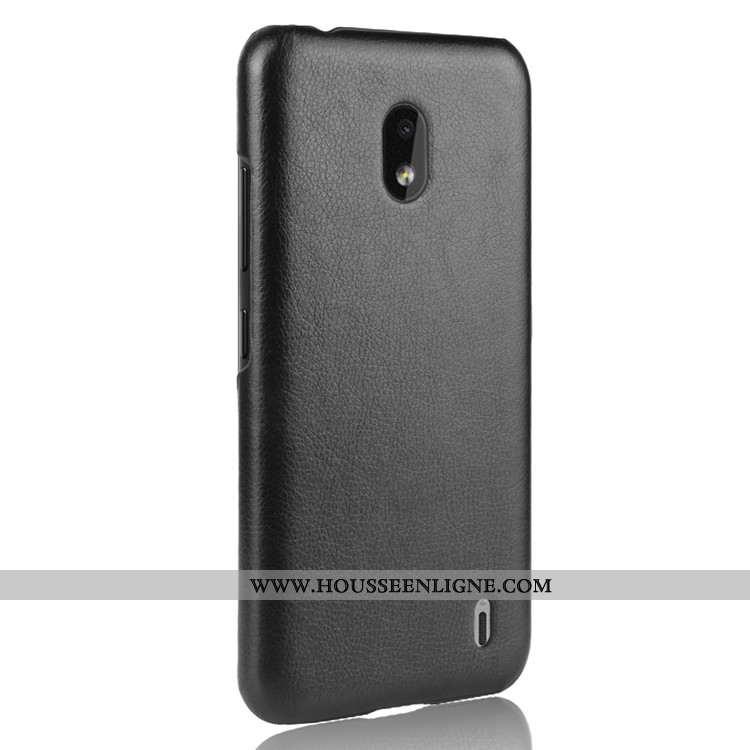 Coque Nokia 2.2 Cuir Protection Portefeuille Étui Noir Téléphone Portable