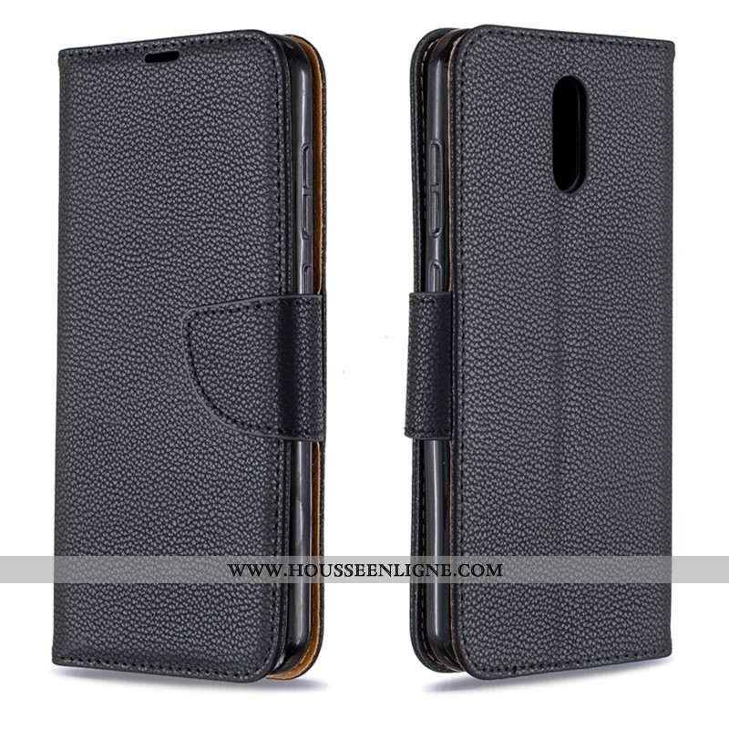 Coque Nokia 2.3 Cuir Protection Portefeuille Téléphone Portable Tout Compris Noir