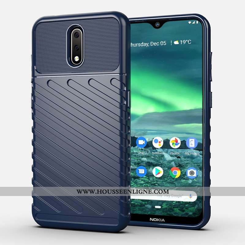 Coque Nokia 2.3 Silicone Bleu Téléphone Portable Incassable