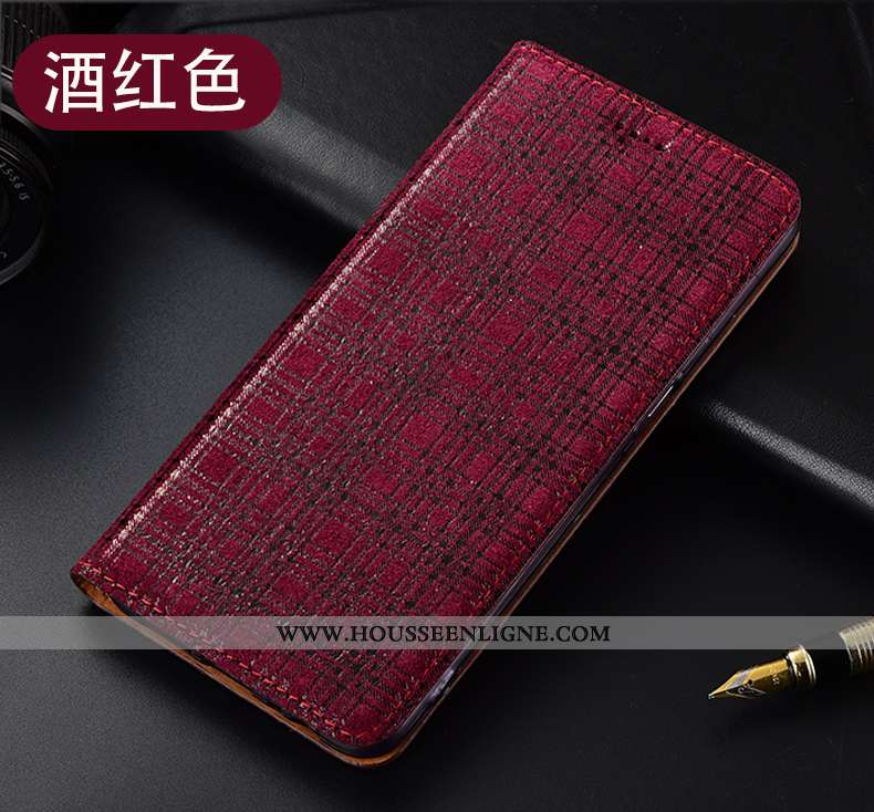 Coque Nokia 3.1 Cuir Véritable Protection Étui Téléphone Portable Velours Housse Tout Compris Rouge