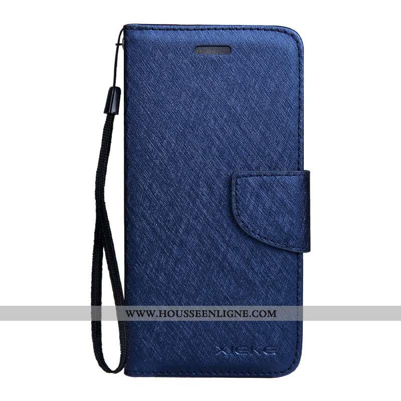 Coque Nokia 3.1 Modèle Fleurie Cuir Housse Étui Soie Mulberry Mois Bleu