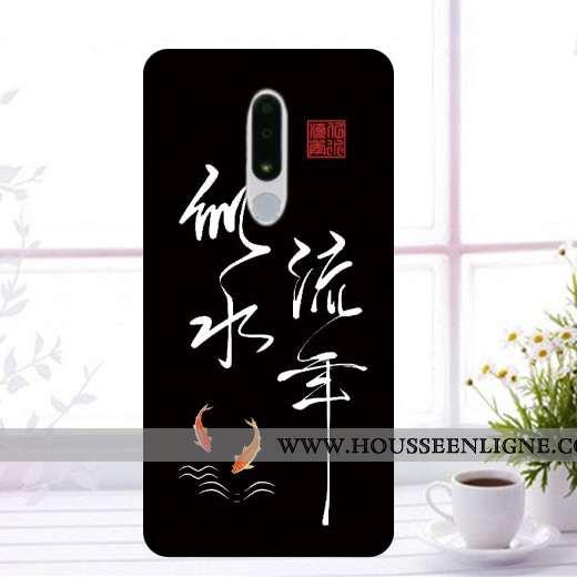 Coque Nokia 3.1 Plus Protection Fluide Doux Étui Incassable Noir Téléphone Portable