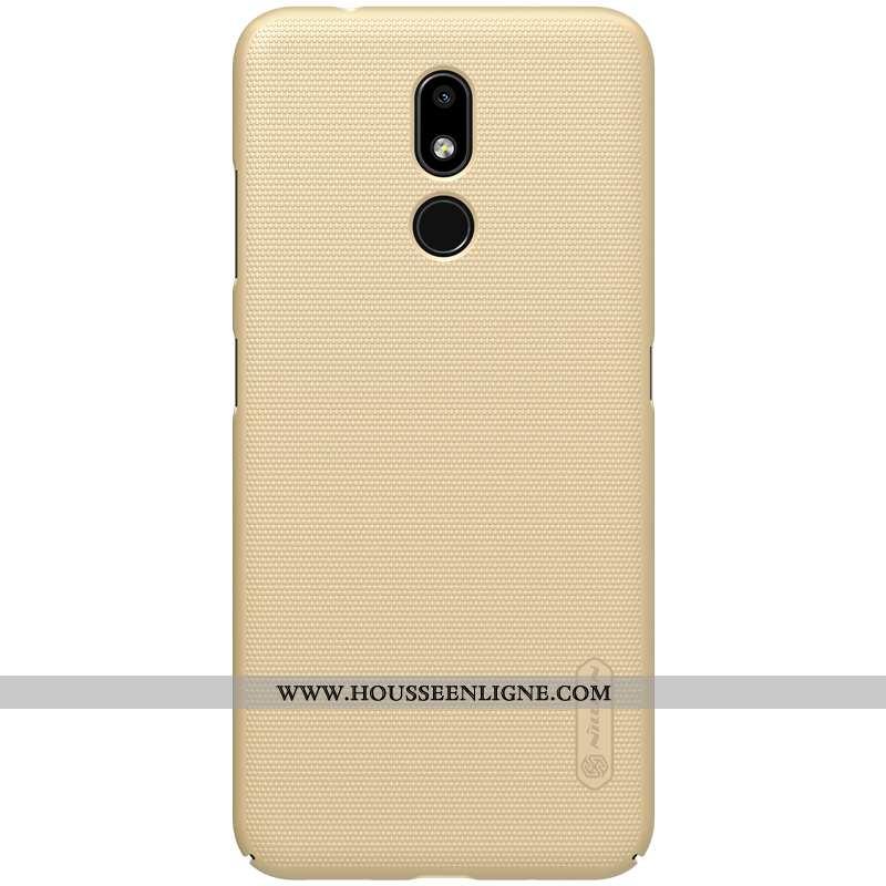 Coque Nokia 3.2 Légère Délavé En Daim Incassable Étui Or Téléphone Portable Doré